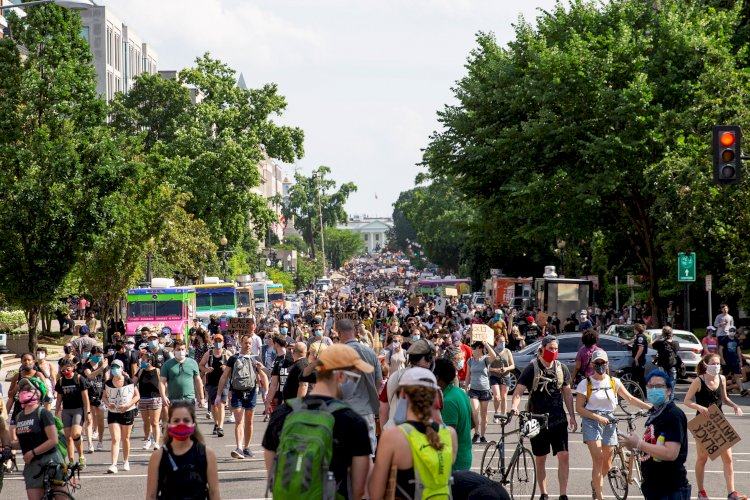 Washington retumba con la mayor protesta desde la muerte de George Floyd