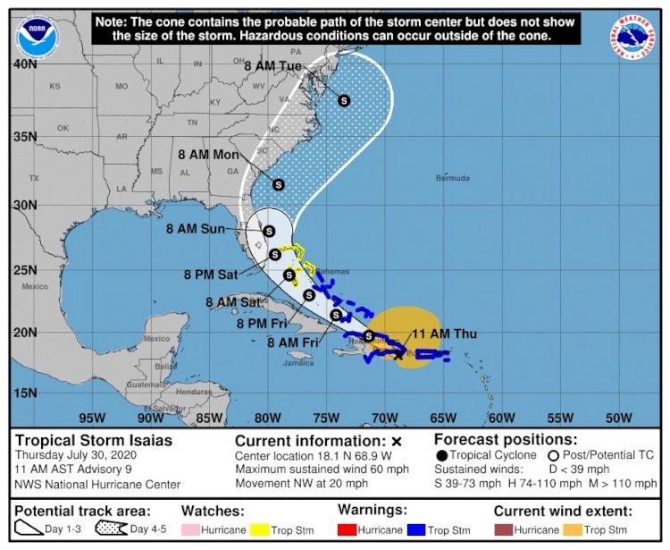 """República Dominicana en aleta por tormenta tropical """"Isaías"""""""