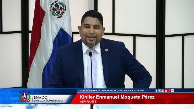 """Kinller Moquete propone """"traer la JCE"""" a la sociedad del siglo XII"""