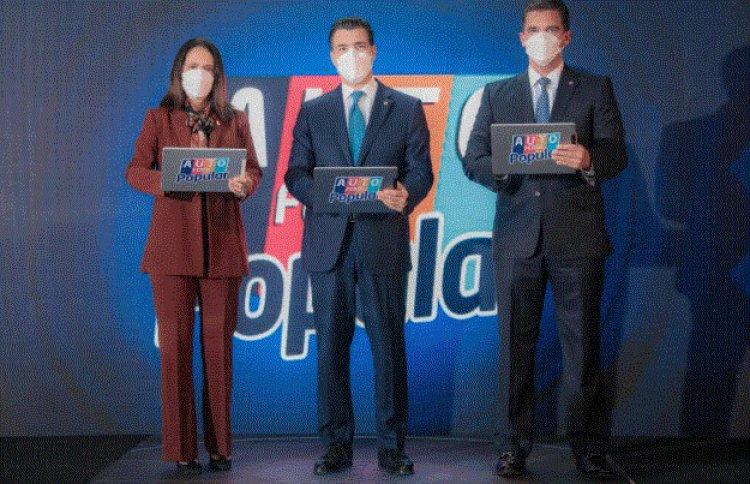 Ejecutivos del Banco Popular Dominicano inauguran XV Autoferia