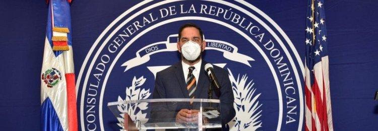 Jáquez informa contrataron compañía de limpieza para evitar covid en Consulado Nueva York