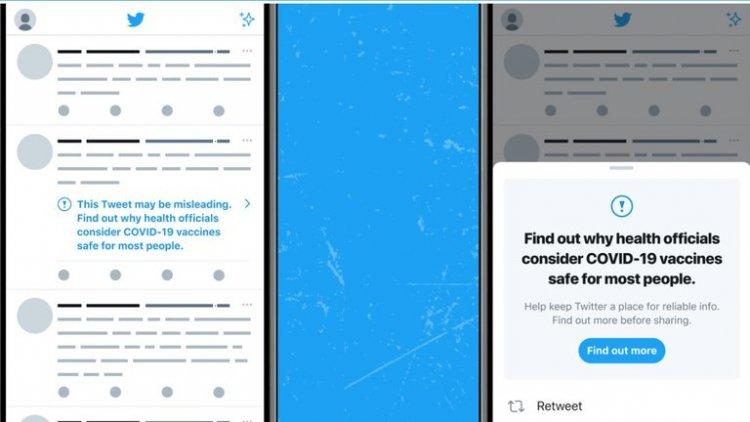 Twitter empieza a etiquetar los tuits con información engañosa sobre la vacuna de la Covid-19