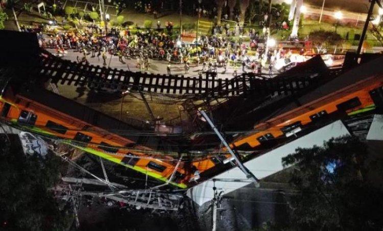 México: Suben a 23 los muertos y 65 hospitalizados al desplomarse un tren