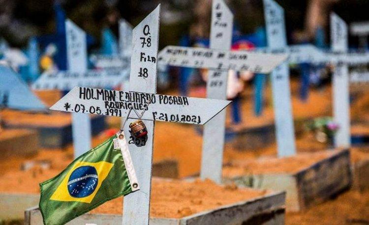 Brasil roza las 420.000 muertes por covid pese a la caída de los decesos