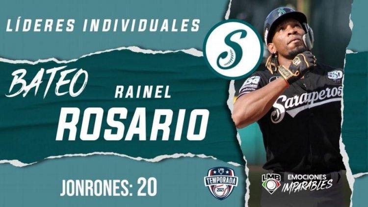 Dominicano Rainel Rosario termina de líder jonrones en el béisbol mexicano