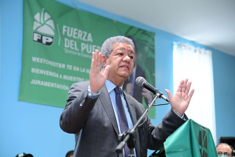 """Leonel: """"En la Fuerza del Pueblo, jamás va a penetrar el dinero del narcotráfico"""""""