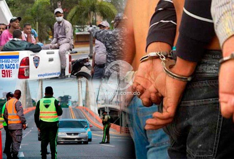 SDO es donde más se viola horario toque de queda; resto de RD acumula 2,655 detenciones en últimos 10 días