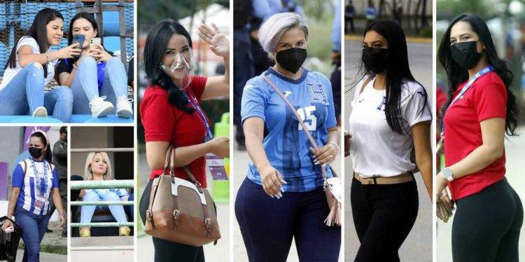 Las bellezas que cautivan en el partido Honduras-Jamaica en el Olímpico